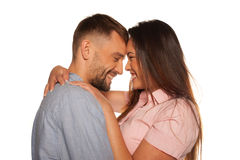 Romantic happy young couple Stock Photography