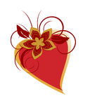 Romantic heart. Vector illustration of a heart with floral elements Royalty Free Stock Image