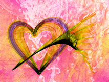 Romantic heart abstract backdrop Stock Images
