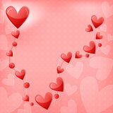 Romantic heart background Stock Photo