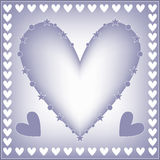Romantic heart background Royalty Free Stock Image