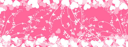 Romantic heart background-timeline cover  Stock Image