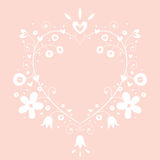 Romantic heart banner frame background with copy space Stock Photography