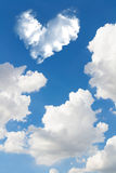 Romantic Heart Cloud abstract blue sky and cloud nature backgrou Royalty Free Stock Image