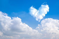 Romantic Heart Cloud abstract blue sky and cloud nature backgrou Royalty Free Stock Photography