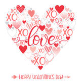 Romantic heart illustration Stock Images