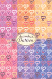 Romantic heart pattern. Royalty Free Stock Images