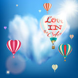 Romantic Heart Shaped Air Balloon. EPS 10 Stock Photography