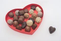 Romantic Heart-shaped Box of Chocolates stock photo