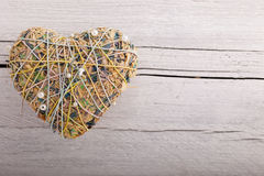 Romantic heart shaped potpourri Royalty Free Stock Image
