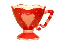 Romantic heart shaped teacup Royalty Free Stock Image