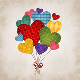 Romantic heart. Vector illustration of romantic hearts on vintage background Royalty Free Stock Photos