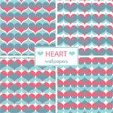 Romantic heart wallpaper set Royalty Free Stock Photography