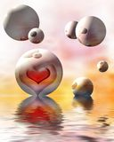 Romantic hearts Royalty Free Stock Image