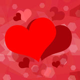 Romantic hearts background Stock Photo