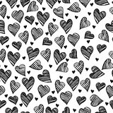 Romantic hearts cute seamless pattern Royalty Free Stock Photos