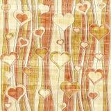 Romantic hearts - decorative pattern - waves decoration Royalty Free Stock Photos