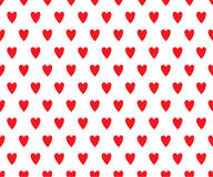 Romantic hearts pattern Royalty Free Stock Images