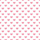 Valentine`s day seamless patterns. Endless pink backgrounds with hearts on a white background. Romantic hearts patterns backgrounds. Valentines Day seamless vector illustration