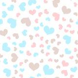 Romantic hearts random seamless vector pattern Royalty Free Stock Photo