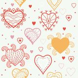 Romantic hearts seamless background Stock Image