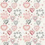 Romantic hearts seamless background Royalty Free Stock Image