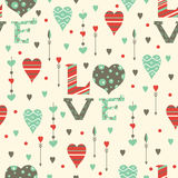 Romantic hearts seamless pattern. Valentine's day Royalty Free Stock Photography