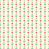 Romantic hearts seamless pattern. Valentine's day Stock Images