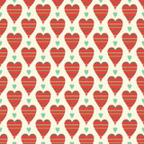 Romantic hearts seamless pattern. Valentine's day Stock Photos