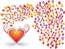 romantic hearts Valentine's Day Royalty Free Stock Photography
