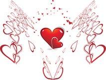 romantic hearts Valentine's Day Royalty Free Stock Image