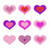 Romantic hearts Royalty Free Stock Photos