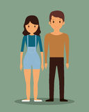 Romantic heterosexual couple full body icon image Royalty Free Stock Photo