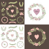 Romantic hipster icons Royalty Free Stock Photography