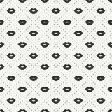 Romantic hipster lips kiss seamless pattern Royalty Free Stock Images
