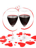 Romantic holiday celebration Stock Images