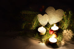 Romantic holiday composition in rural style Royalty Free Stock Image