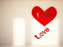 Romantic holiday decor on the wall Stock Photo