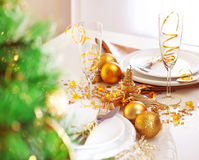 Romantic holiday dinner Stock Photo