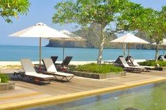 Stunningly beautiful beach in Tanjung Rhu Beach, Langkawi, Malaysia royalty free stock image