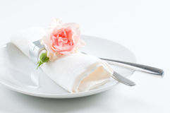 Romantic holiday serving Stock Photo