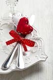 Romantic holiday table setting Royalty Free Stock Photo