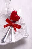 Romantic holiday table setting Stock Images