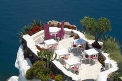 Romantic holidays on Santorini island Royalty Free Stock Images