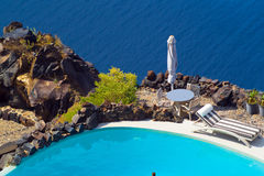 Romantic holidays on Santorini island Stock Images
