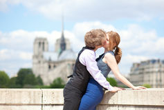 Romantic honeymoon in Paris Royalty Free Stock Photo