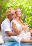 Romantic honeymoon vacation Stock Images