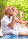 Romantic honeymoon vacation Royalty Free Stock Images