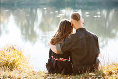 Romantic hug Royalty Free Stock Image
