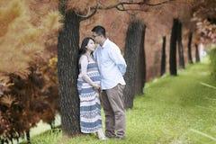 Romantic husband on autumn day Royalty Free Stock Image